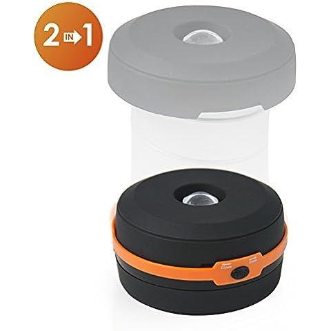 2-en-1 Linterna y Lámpara Plegable ★ Listerna de emergencias ★ linterna para exteriores