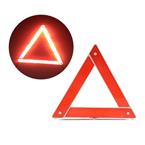 Lergo Warnschild für Notfall/Pannenhilfe / Warnschild für Auto, Dreieck, reflektierend, Rot