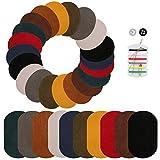 Naler 30 Parches Termoadhesivos Parches Plancha para Ropa DIY Costura Decoración (10 Colores, 2 Estilos)