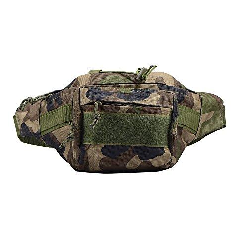 - Taktischer Militär tragbar Fanny Pack Bauchtasche wasserdicht Taille Tasche Hüftgurt Tasche wasserabweisend Taille Pack Deployment Rucksack Daypack Schulter Rucksack Outdoor Tasche für Reise täglich Camouflage