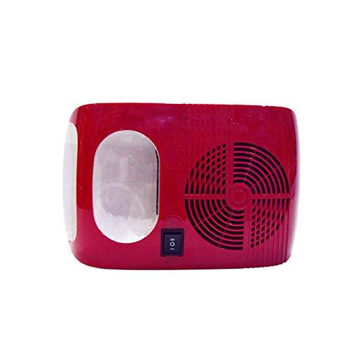 WANGXN Nagel Trockner Kalt und Warm Wind Hochleistungs Nagellack Trockner Sterilisation Werkzeuge für Home Nagel Shop, Red, 396 * 200 * 90mm -