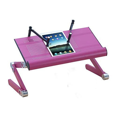 XJLXX Liegen Im Bett Schreibtisch Computertisch Faul Tablette Laptop Steht Beweglichen Klapptisch Klappbarer Computertisch (Color : Purple) -