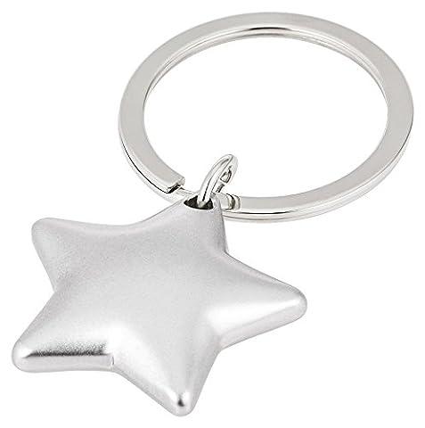 Stern, Schlüsselanhänger, silber matt