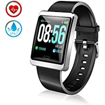 9e0c698b4a69 ZKCREATION Reloj Inteligente Pulsera Actividad con Pulsómetro Podómetro  Calorie Monitoreo del sueño IP67 Impermeable Smartwatch Deportivo