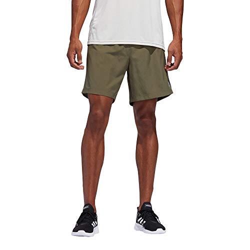 adidas Own The Run Short Men (1/2), Herren M Grün/Schwarz (raw Khaki/Black)