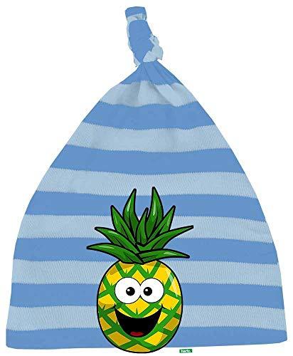 HARIZ Baby Mütze Knoten Streifen Ananas Lachend Frucht Süß Plus Geschenkkarten Blau/Himmel Hell Blau - Scheiben Künstliche Zitrone
