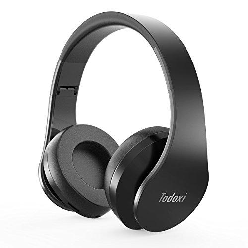 Casque-Bluetooth-Sans-Fil-Headphone-Audio-Basique-TD-3004-par-Todoxi-Ecouteur-Stereo-Sport-Lecteur-MP3-Radio-FM-Casque-Filaire-avec-Supra-auriculaire-Coussinets-Pliables-Micro-Anti-bruit-Integre-Cable