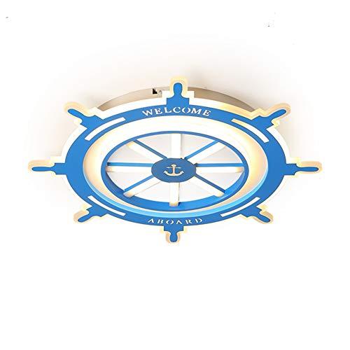Klassisches Design Lampen Deckenfluter Ist (Deckenleuchte Led Kinderzimmer Lampe Ruder Einfache Mediterrane Kind Persönlichkeit Persönlichkeit Junge Blau Schlafzimmer Kreative Blau 24 Watt Dreifarbige Licht 50 * 6 Cm)