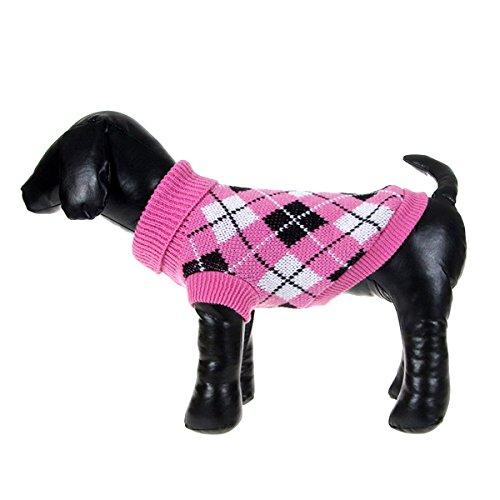 Nobbies Weihnachten Kostüme (Lecktra® - 1 x Karierter Hundepullover warm für die kalte Jahreszeit / Herbst / Winter - Winterpullover / Sweater für den Hund - Dog Costume - Pullisl für Hunde -)
