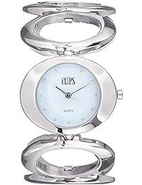 Clips 553-2009-98 - Reloj de pulsera mujer, aleación, color plateado