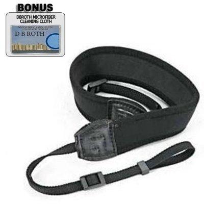 Deluxe Halstrageriemen Neopren schwarz breit für Kodak Easyshare P712, P880, P850, Z760, Z7590, Z730, DX7590, DX7440, DX7630, DX6490 Digitalkameras Dx7590 Digital Camera