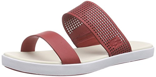 Lacoste Meyssac Hommes Trainers Rouge
