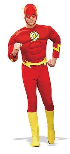 The Flash Deluxe Kostüm Roter Blitz (für - Flash Muskel Für Erwachsene Kostüm