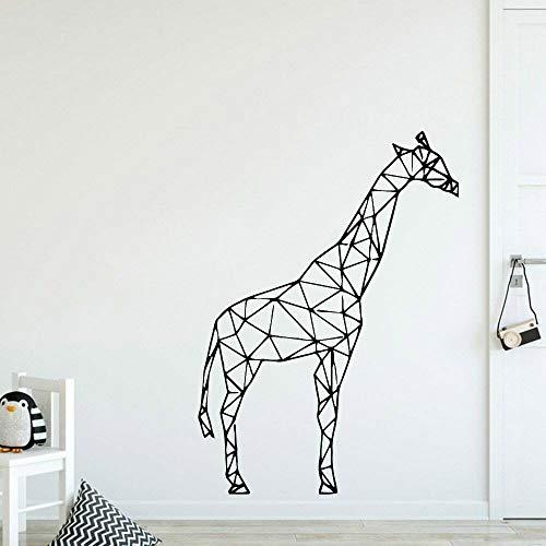 supmsds Retro Geometrie Giraffe Wandaufkleber Für Babyzimmer Vinyl Wandtattoo Decor Wohnzimmer Nordischen Stil Dekoration Wasserdicht 42x58 cm
