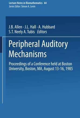 Peripheral Auditory Mechanisms: Proceedings of a Conference Held at Boston University, Boston, Ma, August 13-16, 1985