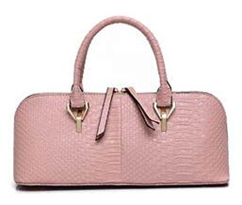 DFUCF Signore PU pelle Moda Casual Occupazione Borsa A Tracolla Borsa Messaggero Borsa Robusto Festa Matrimonio Blushing Pink