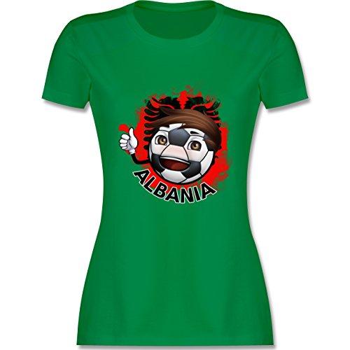 EM 2016 Frankreich Fußballjunge Albanien tailliertes Premium TShirt mit  Rundhalsausschnitt für Damen Grün