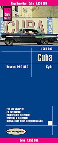 Cuba, mapa impermeable de carreteras. Escala 1:650.000 impermeable. Reise Know-How. por VV.AA.