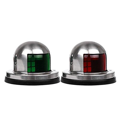 Boots Navigationslicht LED Navigations Lampe Grünes und rotes Marineboot Yacht LED helles Edelstahl Bogen Navigations Lichter 12V 2pcs -