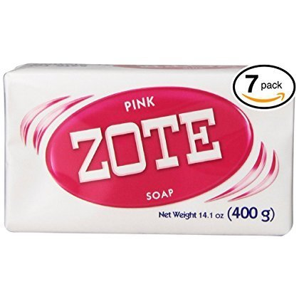 (BARS) Zote Pink Laundry Bar Soap, with Even MORE Pinkning Power & Satin Remover. Light Fresh Scent! Safe for delicate clothes! (7 Bars, 14.1oz Each Bar) by Zote