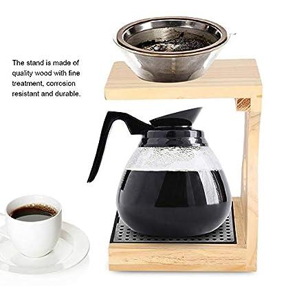 Kaffeetropfstnder-aus-Holz-fr-Espressokocher-abnehmbarer-Kaffeefilterhalter-mit-Edelstahlplatte-fr-Tassen-Tassen-Kaffeefilter-kleine-Tpfe