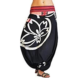 virblatt Pantalones bombacho mujer Yoga cagados como pantalón chandal árabe - Besonders