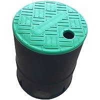 BESTOMZ Sistema de rociadores de caja de válvula de riego profesional redondo de 6 pulgadas Caja de válvula circular con tapa superpuesta