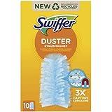 Swiffer Duster Recharges pour Plumeau Attrape-Poussière, Attrape Et Retient La Poussière, 10 Plumeaux