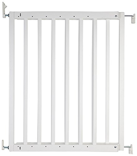 Safetots Chunky Wooden Screw Fit Stair Gate, White, 63.5 to 105.5 cm Safetots One handed operation Made up of two panels which are self expandable Fits a standard width: 63.5cm - 105.5cm 1