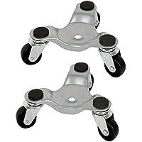 fireangels 2pcs 3Rueda Movimiento con ruedas rueda Dolly Heavy aparato muebles Movers 60kg