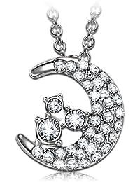 """J.NINA """"luna"""" Collar Mujer, fabricados con cristales SWAROVSKI®, Joyería Colgante para Mujer, Regalo para Madres"""