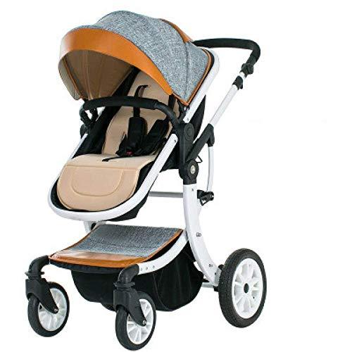 Moolo Passeggino Neonato, 0-3 Anni Vecchi 3 in 1 Leggero Passeggino da Viaggio Buggy Passeggino Pieghevole Bambino Trolley Ammortizzatore può sedersi a metà sdraiata (Color : C)