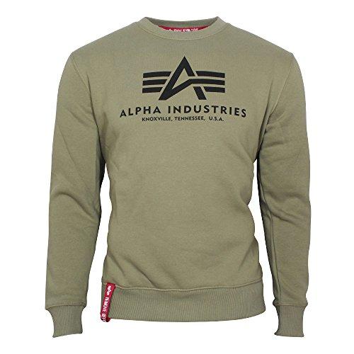 Alpha Industries Basic Sweatshirt Oliv S Big Logo Crewneck Sweatshirt