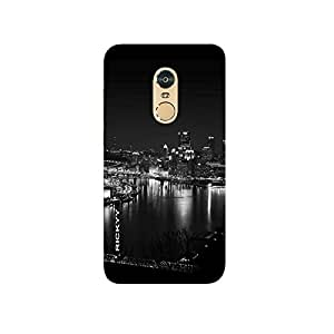 RICKYY Night_City design printed matte finish multi-colored back case cover for Xiaomi Redmi Note 4