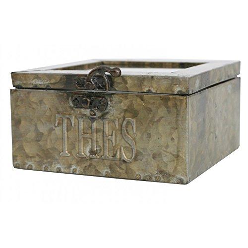 Antic Line - Boîte à thé en zinc