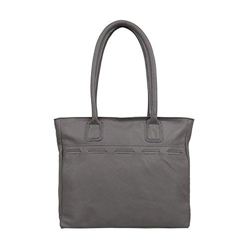 Cowboysbag Arlington Borsa a spalla pelle 35 cm Grey