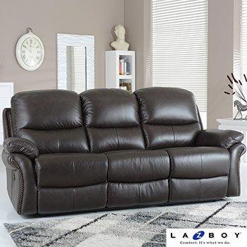 de-lujo-la-z-boy-portland-3-plazas-reclinable-manual-en-cuero-marron