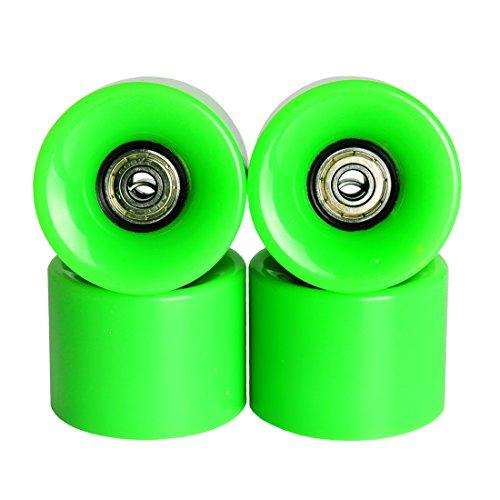 Andux Zone Mini Skateboard Ruote per mini skateboard Penny Pesce da 85a plastica verde bianco (60 Mm Skateboard Ruote)