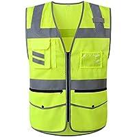 Fahrradanzug- Reflektierende Weste, Atmungsaktives Mesh Reflektierende Kleidung Verkehrssicherheit Sicherheitskonstruktion Hygiene Fluoreszierende Weste -Regenmantel ( Farbe : 1 pack , größe : L )