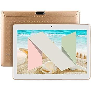 SANNUO Tablet 10 Pulgadas 3G Tablets(Android 7.0, 2GB + 16GB, Quad Core,IPS 1280*800 HD, Dual SIM, Dual Camera, GPS, Wi-Fi, OTG.) -Dorado