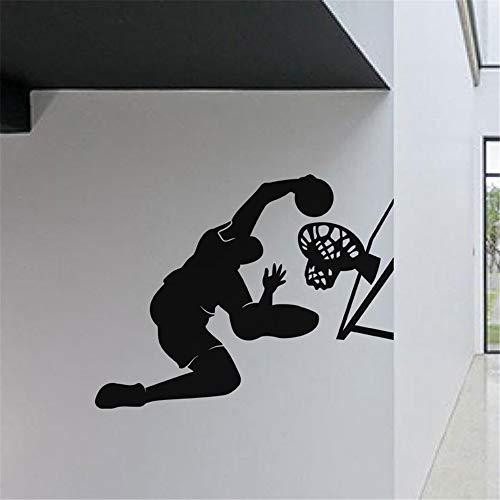 wandtattoo motorrad uhr Basketball tor basisansicht für gym basketballplatz dekoration diy wohnkultur sport jungen schlafzimmer