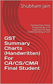 GST Summary Charts (Handwritten) For CA/CS/CMA Final Student: Handwritten Notes Prepared By a CA Aspirant For