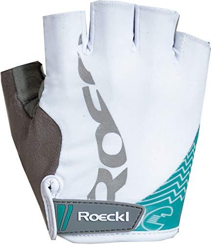 Roeckl Doria Damen Fahrrad Handschuhe kurz weiß/türkis 2017: Größe: 6