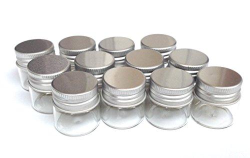 12 botellas cristal pequeña con tapa,(HC Enterprise)