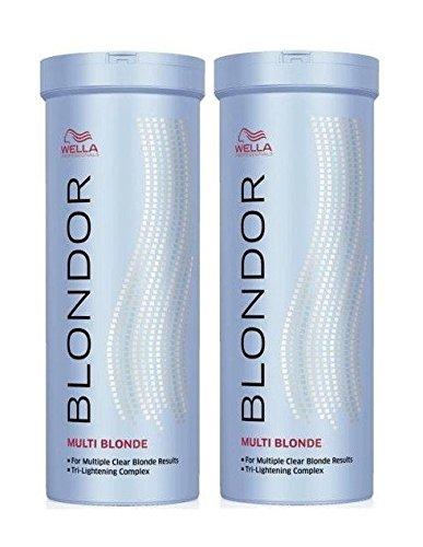 lot de 2 wella blondor multi blonde poudre claircissante blond poudre 400 g - Coloration Eclaircissante Blond