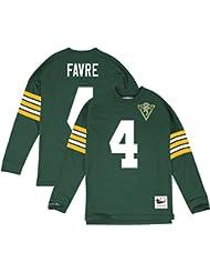 """Brett Favre Green Bay Packers Mitchell & Ness NFL Men's """"Go Long"""" L/S shirt Chemise"""
