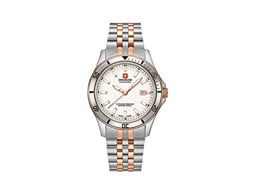 SWISS MILITARY-HANOWA Damen Analog Quarz Uhr mit Edelstahl Armband 06-7161.2.12.001