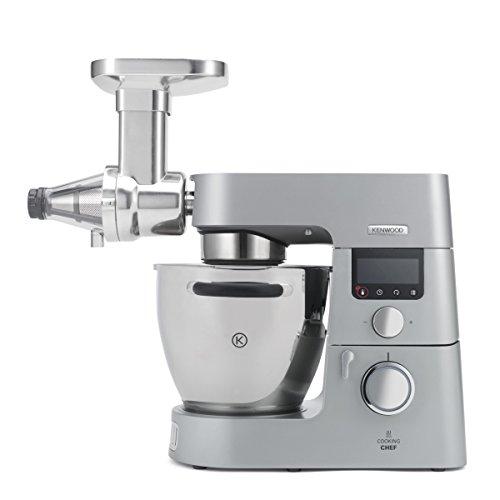 Kenwood Citrus Juicer Chef AT312 Accesorio Exprimidor Compatible Con Robots De Cocina Kenwood Chef Y Major 0.6 Litros Acero Inoxidable Plateado//Blanco