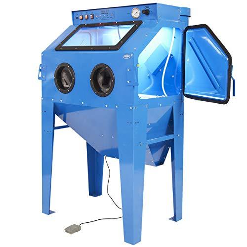 Sandstrahlkabine mit Absaugvorrichtung - 350 Liter