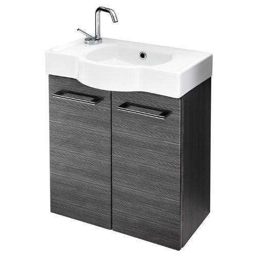 Quentis Cordoba 50, Waschplatzset 2-teilig, silbergrau glänzend -
